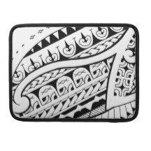 modern contemporary tattoo design Polynesia tribe MacBook Pro Sleeves