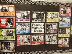 Mrs. King's Music Room - Famous Musical Duos.  This is a colorful board and kids (and teachers alike!) loved to stop and see how many duos they know.  ♥