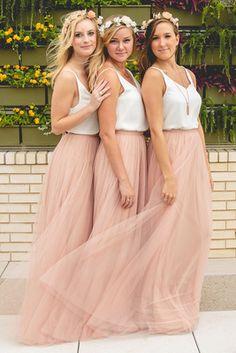 Skylar Bridesmaid Skirt in Blushing Peach Tulle