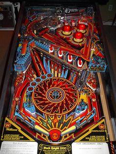 Williams Black Knight 2000 Classic Arcade Pinball Machine   eBay