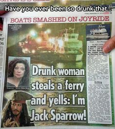"Funny thing is, is that she looks like she could be his mother...""MUM?! That's not the bloody Pearl!! And it's CAPTIN Jack Sparrow!!!!!!"""
