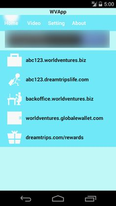 WVApp can give Worldventures member simple go to own sub-domain link , Dreamtrips Rewards link , BackOffice link , eWallet link , also has some Video link can give Worldventures member know more what Business Worldventures.