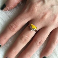 Yellow Fox Ring This is super cute and it's adjustable to fit any ring size. NO TRADES PLEASE Jewelry Rings