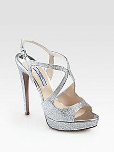 3af4a55b925 Jimmy Choo Taliah. See more. Prada - Glitter Strappy Platform Sandals  Bridal Shoes