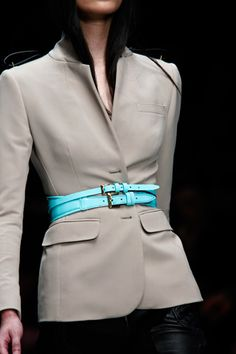 563e931e036b Neon Belts   Tiny waists ~ Burberry Spring 2011  via The terrier   lobster