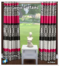 Curtains by Oldbox at All 4 Sims • Sims 4 Updates