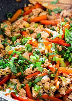Thai Chicken Lettuce Wraps http://www.changeinseconds.com/thai-chicken-lettuce-wraps/ #glutenfree #paleo