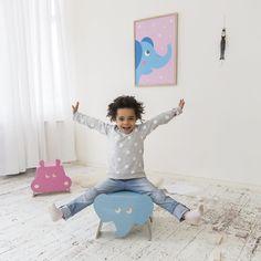 taburetes infantiles con formas de animales