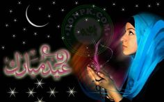 72 best islam images on Pinterest   Islamic  Audio and Backgrounds Eid Chand Raat Mubarak Wallpaper pics images sms in Urdu