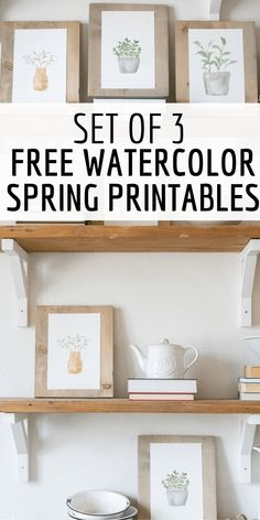 Add some spring inspired decor to yuor home easily with my set of FREE hand painted watercolor plant printables. They are a perfect touch for spring. Free Prints, Wall Prints, Free Printable Art, Free Printables, Free Printable Monogram, Watercolor Plants, Watercolour, Spring Home, Kids Crafts