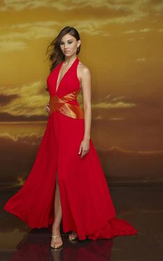 Red Gorgeous A-line V-Neck Halter Sash Front Splitting Chapel Train Chiffon Prom Dress. Selling at Discount. Tuxedo Shop, Chiffon, Evening Dresses, Formal Dresses, Party Dresses, Beautiful Prom Dresses, Timeless Classic, Fashion Company, Cute Outfits