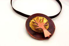 copper dome tree pendant