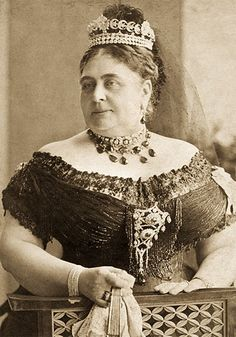 The Duchess of Teck - Mary of Teck's mother and great-grandmother to Queen Elizabeth II. She, too, was a grand-daughter of George III, and therefore Queen Victoria's first cousin.