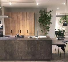 Kitchen Interior, Kitchen Design, Japan Interior, Kitchen Cupboards, Modern Industrial, Kitchen Living, Interior Styling, Interior Architecture, Sweet Home