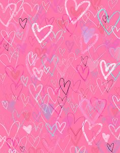 It's all about Hearts ♡ Hd Wallpaper Iphone, Heart Wallpaper, Pink Wallpaper, Mobile Wallpaper, Pattern Wallpaper, Wallpapers, My Funny Valentine, Valentine Background, Wall Drawing