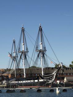 Uss Constitution (Old Ironsides), Charlestown Navy Yard, Boston, Massachusetts, New England, USA