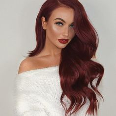 """.. rocking my @bellamihair Vibrant Red Boo-Gattis (use code """"flukeofmakeup"""" for discount ) #bellamiboogatti #bellami #teambellami #bellamibella #sponsored #bellamihair #TheRedIsBack"""