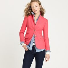 a bright berry blazer. We all should be so lucky to have this in our repertoire of fashionable jackets.