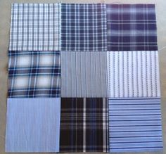 Quilting With Recycled Men's Shirts-great way to preserve the memory of a son heading off to college or other beloved male family member's clothing.