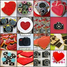 lots of camera cookie ideas