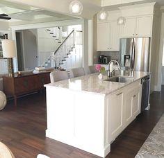 Kitchen island countertop. Kitchen island countertop is  LG Viatera Quartz color…