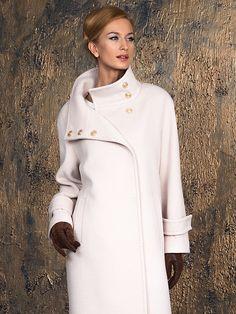 Пальто женское цвет молочный, Ворс, артикул 10139703