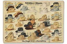 "9ca7f6749c4f4a Brandon Wayne on Instagram: ""🌵 Miller Hats!! 🌵 ➖➖➖➖➖➖ #millerstockman  #cowboyhats #1940s #vintagewesternwear #vintagecowboy #dang #idbuythemall"""