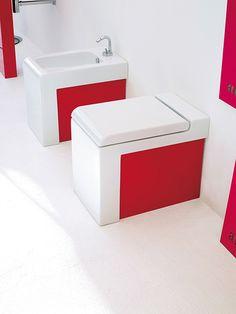 Back to Wall Toilets Back To Wall Toilets, Bathroom Furniture, Color Pop, Colour, Home Furnishings, Sink, Shower, Interior Design, House