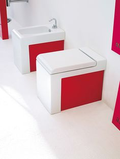 #Artceram #Jazz block #Sanware #Red - pep up your bathroom with this awesome pop of colour, from reevolve.co.za