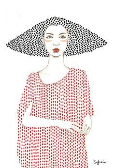 Elle (Girls series) by Sofia Bonati – People Drawing Sofia Bonati, Girls Series, Art Graphique, Art Plastique, Doodle Art, Fashion Illustrations, Art Inspo, Art Drawings, Illustration Art