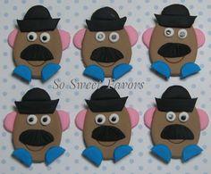 Fondant edible cupcake toppers  Toy Story 3  by sweetfavors08, $15.95
