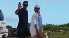 Michelle and Barack Obama enjoy a stroll in the Virgin Islands