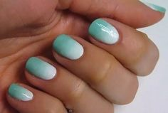 teal/white ombre