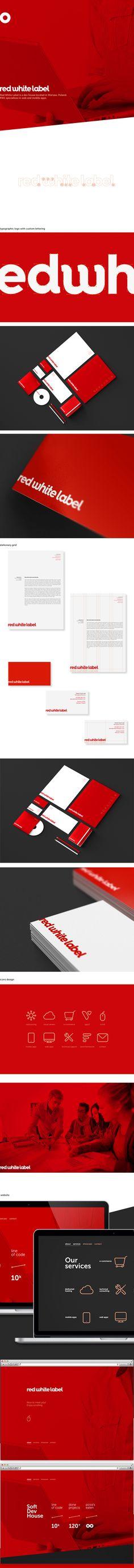 Red White Label on Branding Served