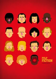 Pulp fiction tribute poster by Olaf Cuadras on The Bazaar. Buy creative products by Olaf Cuadras online! Best Movie Posters, Cartoon Posters, Minimal Movie Posters, Quentin Tarantino, Tarantino Films, Pulp Fiction Characters, Movie Characters, Olaf, Love Movie