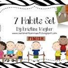 I created this set to use in my own classroom, which is decorated in zebra print. It includes a plain set and zebra set. I used it to make 7 habits...