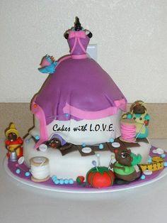 Cinderellas Dress Cake by Cakes with L.O.V.E., via Flickr