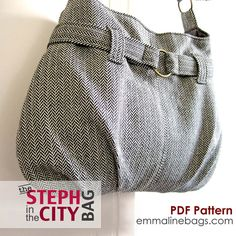 Steph In The City Bag PDF Sewing Pattern - Purse, Handbag, Shoulder or Hobo Bag Pattern. $9.50, via Etsy.