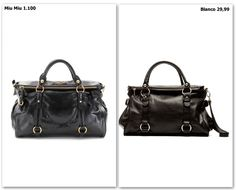 Bolso de Miu Miu (1.100€) vs. Blanco (29,99€)  #bag #fashion #shopping #sales