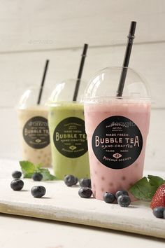 Buy Bubble tea Mockup by amris on GraphicRiver. tea Mockup scenes Photorealistic bubble tea /milkshake themed mockups are ideal for showing off your restaura. Bubble Tea Shop, Bubble Milk Tea, Fun Drinks, Yummy Drinks, Milkshake, Bubble Drink, Boba Drink, Tea Logo, Gastro