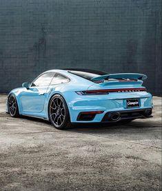 #cars #porsche #porsche911 #blueaesthetic #911 911 Turbo S, Porsche 911 Turbo, Porsche Cars, Car Painting, Car Photography, Hot Cars, Car Show, Luxury Cars, Dream Cars