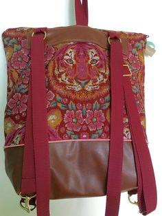 Die Tasche kann auch als Rucksack benutzt werden - Schnittmuster und Nähanleitung via Makerist.de