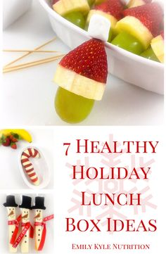 7 Healthy Holiday Lunch Box Ideas | Get these super adorable holiday lunch box ideas that are just as nutritious as they are delicious from Emily Kyle Nutrition.