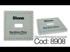 ▶ Codigo 8908 disco kumihimo stone sq grande x und - YouTube