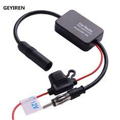 GEYIREN Car Accessories Louder Speaker 12V Car Radio Signal Amplifier ANT-208 Auto Antenna Booster