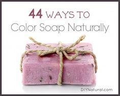 Colorantes Jabón Natural - 44 Maneras para colorear su jabón casero natural