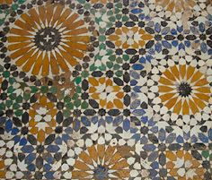 Mosaic floor from Palais Bahia in Marrakesh | Two Maisons