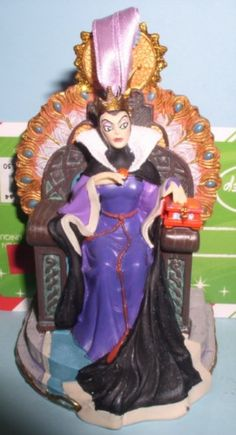 Walt Disney's Snow White evil Queen Ornament Figurine. Size approximately: 4 inches tall. Price 17.99 at ToysbyStacy.com