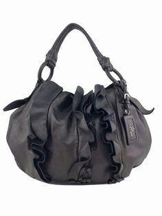 5dbb95686903 Prada Ruffle Hobo in Charcoal Gray #prada #pradabag #purse Prada Bag, Luxury