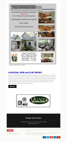 Tell me what you think about this one! Office Team, Blowing Rock, Email Newsletters, What You Think, Thinking Of You, Real Estate, Thinking About You, Real Estates